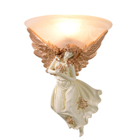 European Style Wall Lamps Bedroom Bedside Lamp Led Angel Living Room Tv Wall Lighting Aisle Stairs Wall Lights For Home