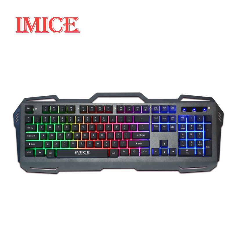 mechanical hand feel keyboard 104 keys usb wired gaming keyboard colorful backlit suspend. Black Bedroom Furniture Sets. Home Design Ideas