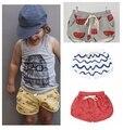 2016 estilo verão bloomers bebê moda bobo choses alta qualidade calças de algodão de Praia kawaii ropa menino e menina shorts