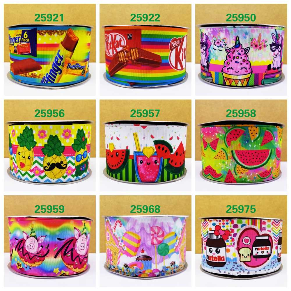 Free shipping 2018 new arrival ribbons Hair Accessories ribbon 10 yards  printed grosgrain ribbons 25959