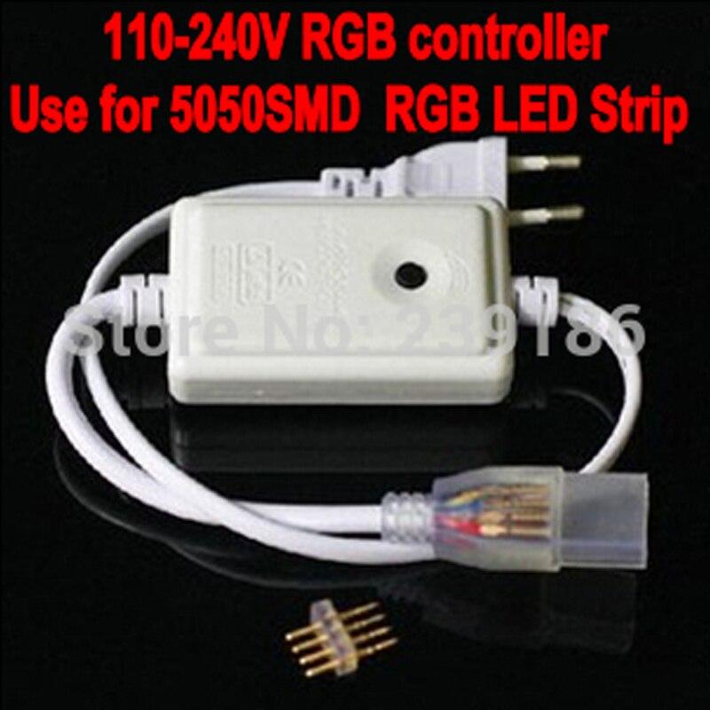 110 V 220 V RGB 5050 SMD LED Bande contrôleurs (plug power), 110 V-240 V LED bande RGB contrôleur 1 pcs livraison gratuite