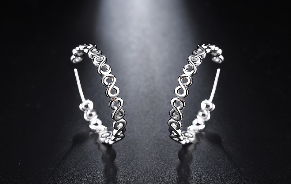 Unique Design Infinity Open Ear Earrings