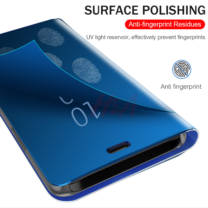 Image 2 - H&A Mirror Flip Case For Xiaomi Redmi Note 7 5 6 K20 Pro 4X 5A 6A 5 Plus S2 Cover For Mi 9T 9 8 SE A1 A2 Mix 2 Phone Case-in Flip Cases from Cellphones & Telecommunications