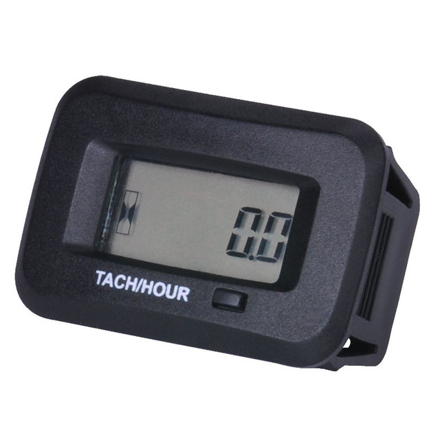 snap on Waterproof digital RPM Hour Meter Tachometer For 2 4 Stroke generator ATV Tractor Marine sprayers Snowmobile