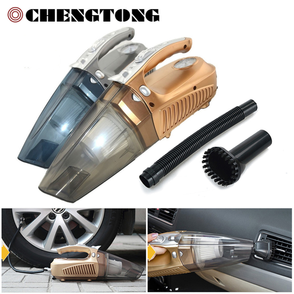 4 in 1 Car Vacuum Cleaner Car Inflator Pump Compressor Portable Dry and Wet Dual-use Multi-function Cleaner Car Tool CV005