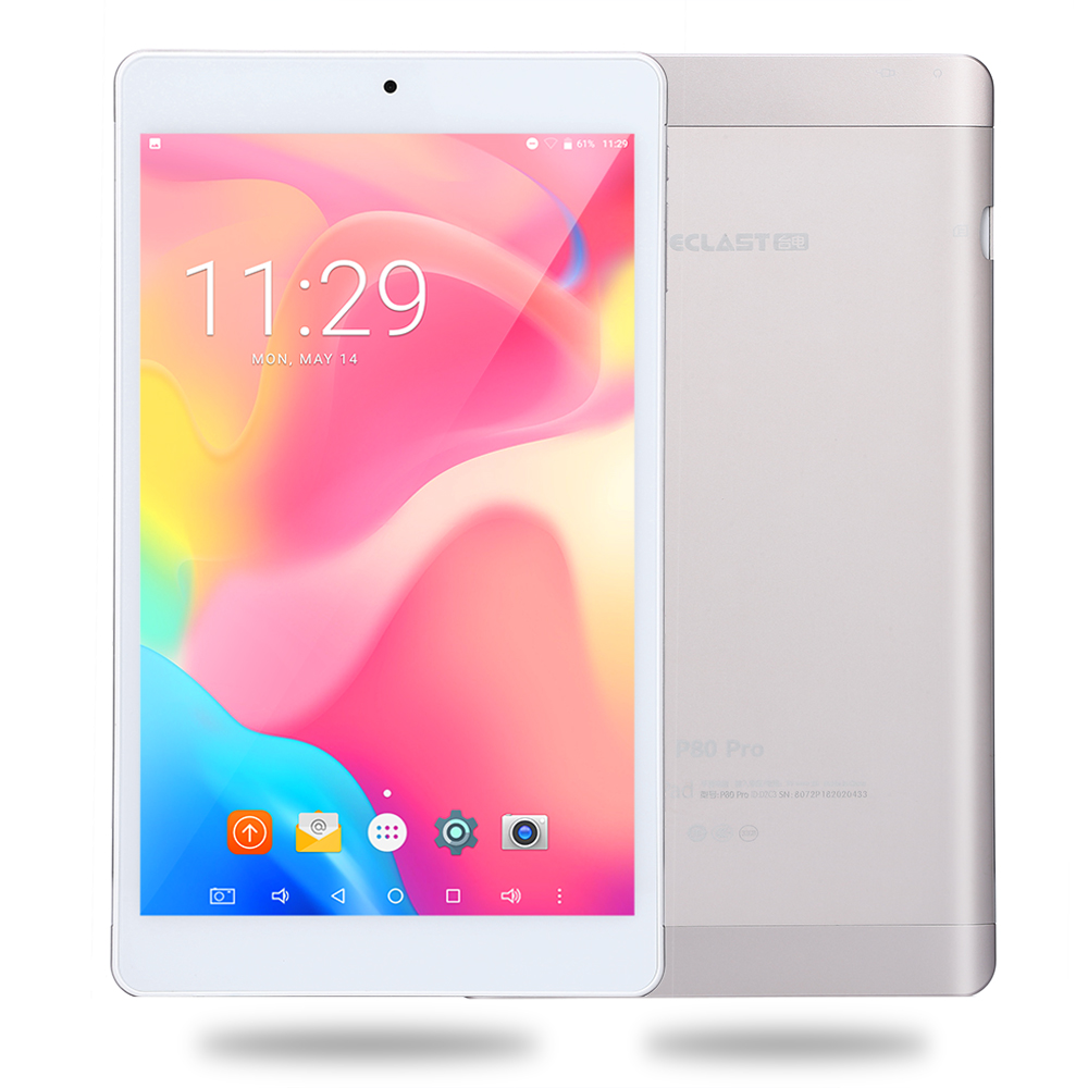 Teclast P80 Pro Upgraded Android 7.0 MTK8163 Quad Core 1.3GHz 3GB RAM 32GB ROM Tablet PC Dual WiFi /Cameras 1920*1200 GPS HDMI