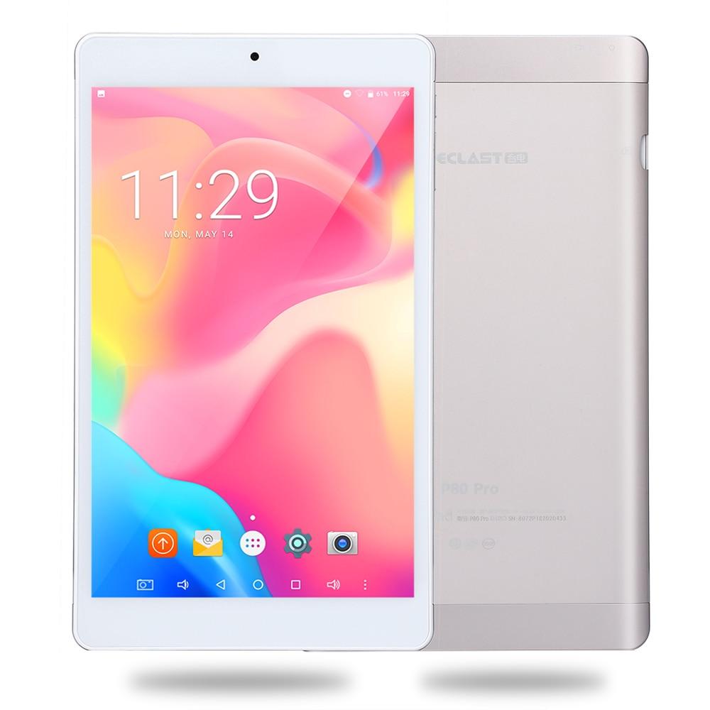 Teclast P80 Pro tablette PC 8 pouces Android 7.0 MTK8163 Quad Core 1.3 GHz 2 GB RAM 32 GB ROM double WiFi double caméras 1920*1200 GPS HDMI
