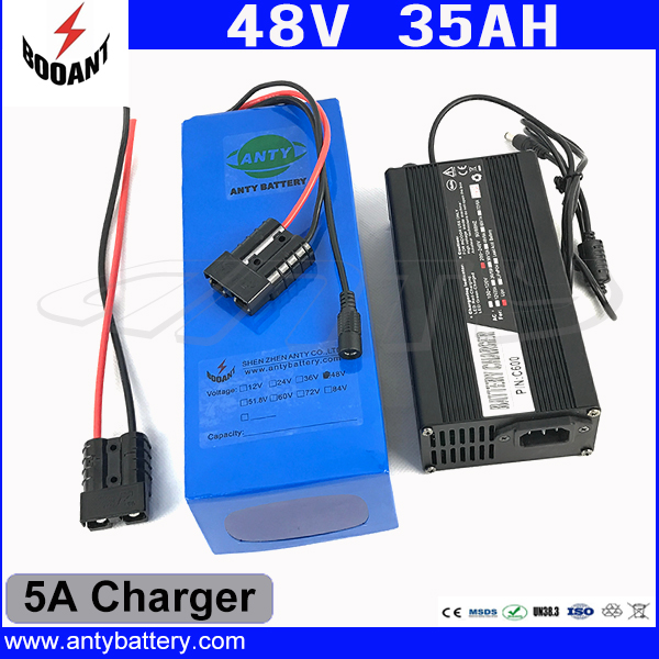 1800W 48V 35AH eBike Battery 48V 35AH Lithium ion Battery 48V For 8Fun Bafang Electric Bike Motor With 50A BMS 5A Charger free customes taxes 48v 2000w electric bike battery 48v 35ah lithium ion battery pack for electric bike with charger bms