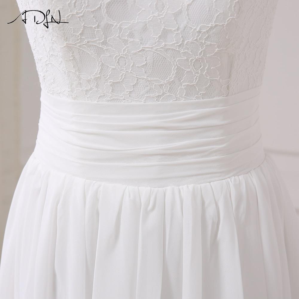 Elegant Chiffon Beach Wedding Dress