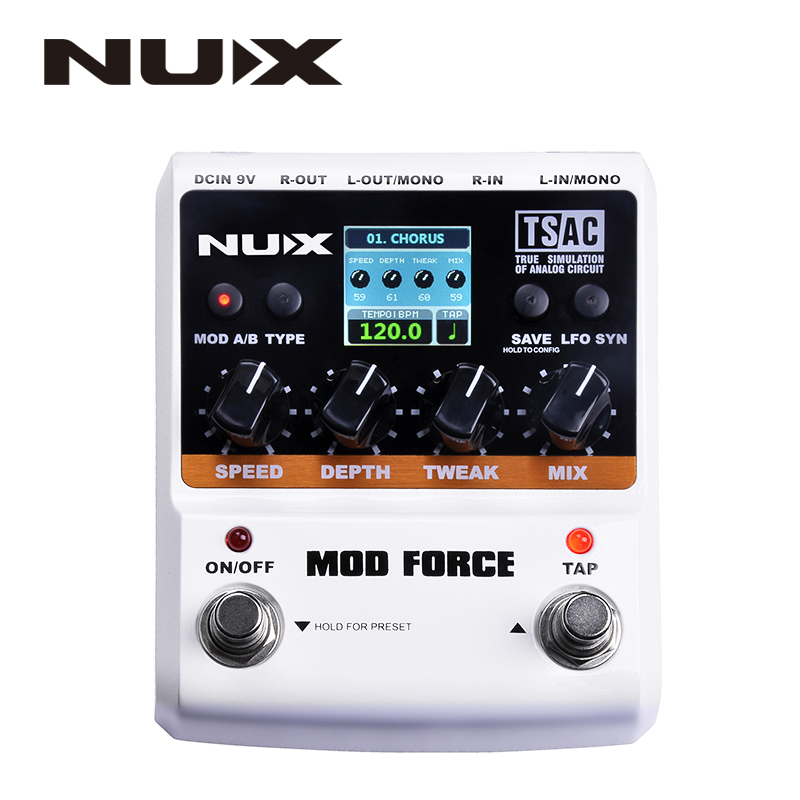 NUX MOD Force Multi Modulation Effects Dual Engine with Series/parallel Switchable Color Screen Musical Instrument Parts цена 2017