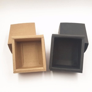 Image 4 - 20pcs/lot Blank Kraft Paper Drawer Boxes Black Paperboard Packaging Box DIY Handmade Soap Craft Jewel Party Gift Boxes