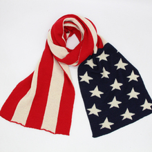 USA flag pattern knitted acrylic winter autumn warm women men scarf shawls outside wraps heavy scarf 3 colors  LL190610 britain flag letter landmark pattern tassel scarf