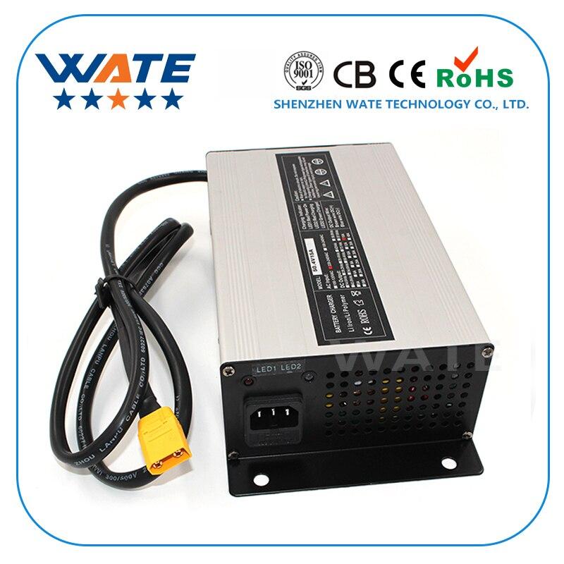29.4V 22A Charger 24V Li ion Battery Smart Charger Used for 7S 24V Lithium Battery Input 220V Aluminum case