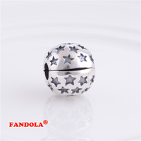 Passend für pandora charms armbänder sperre clip stopper lose perlen 925 sterling silber schmuck kostenloser versand