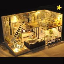 Миниатюрная игрушка-головоломка «сделай сам», кукольный дом, модель, деревянная мебель, строительные блоки, игрушки, подарки на день рождения, кукольные домики, рождественские подарки