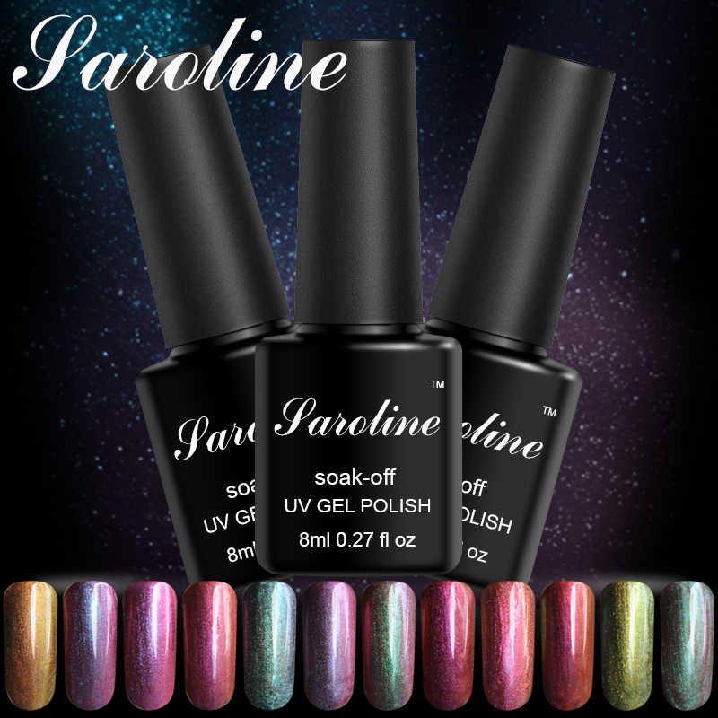 Saroline camaleón colores UV Gel polaco 8ml Semi-permanentemente remojo-Off UV lámpara LED colorido brillante uñas polaco lacas
