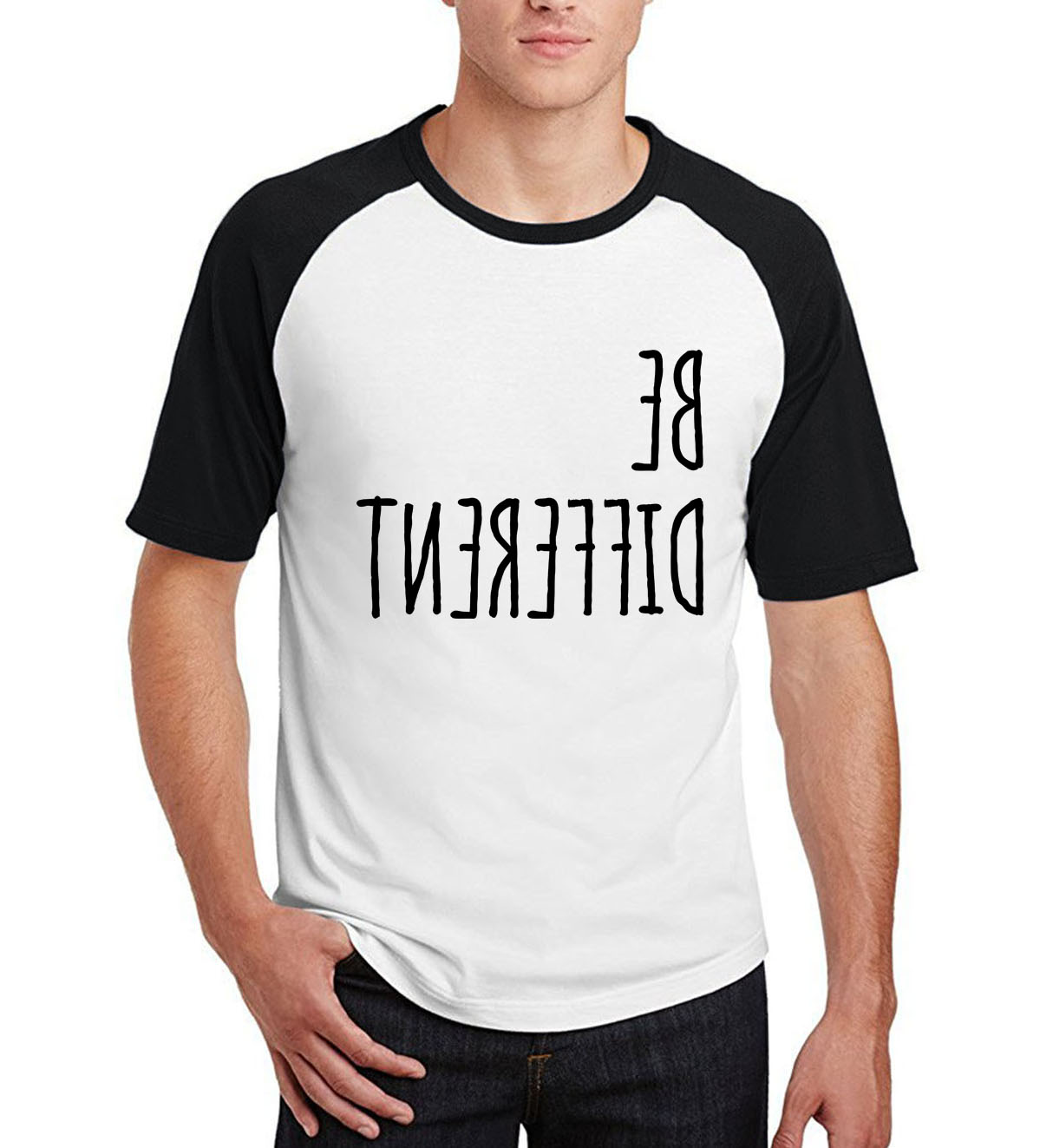 male harajuku short sleeve tops Hipster man's Look Men  T-Shirt 2019 new arrival cotton o-neck raglan camisetas
