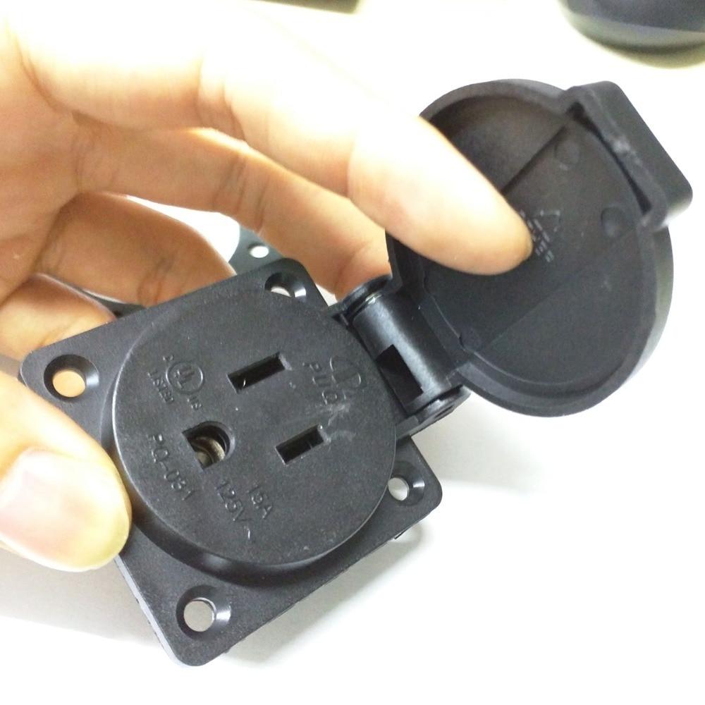 IEC 320 C14 United states 3 prong plug Waterproof AC POWER Socket ...