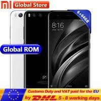 Original Xiaomi Mi6 Mobile Phone Mi 6 6GB 64GB Android 7.1 Octa Core 5.15 Inch 1920x1080 Dual 12.0MP Snapdragon S835 3350mAh