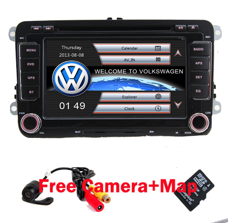 Factory price 7 Touch Screen Car DVD for VW Golf Polo Jetta Bora Passat Wifi 3G GPS Bluetooth Radio USB SD Free GPS MAP bluetooth link car kit with aux in interface & usb charger for vw bora caddy eos fox lupo golf golf plus jetta passat polo
