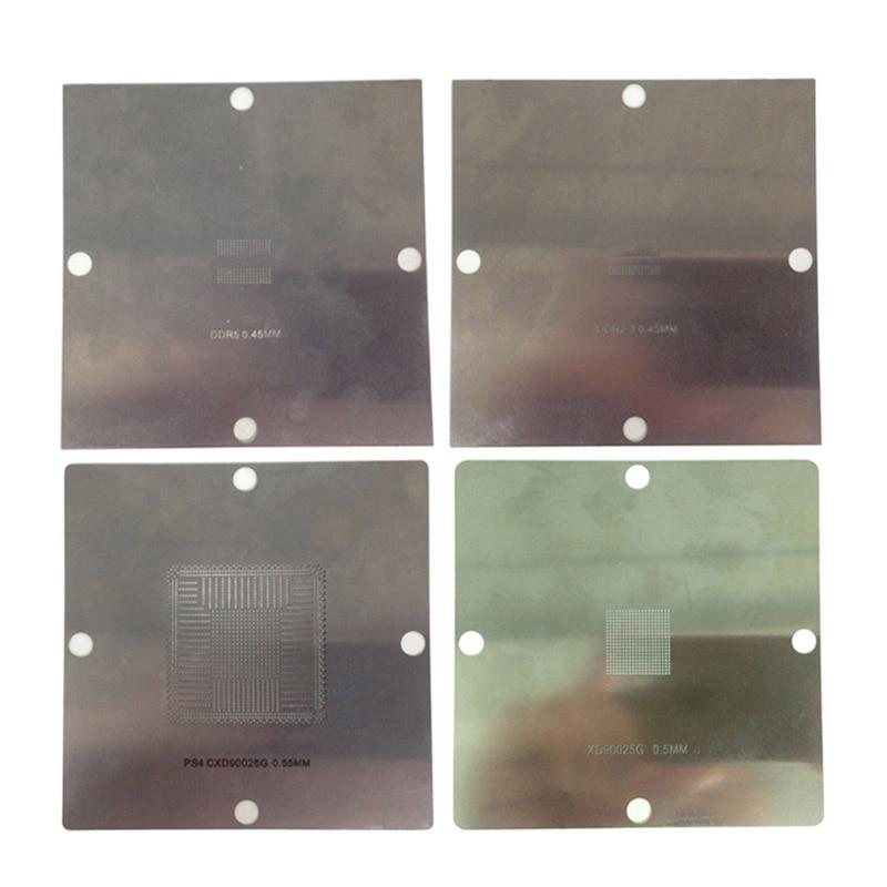 90*90mm PS4 BGA Reballing Stencils Game Console IC Reball Station Solder Ball Steel Template