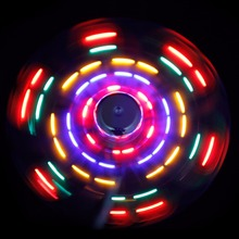 Flash USB LED Fan Flexible Soft Blade Colorful LED Light USB Cooling Fan Desk For Notebook Laptop C26