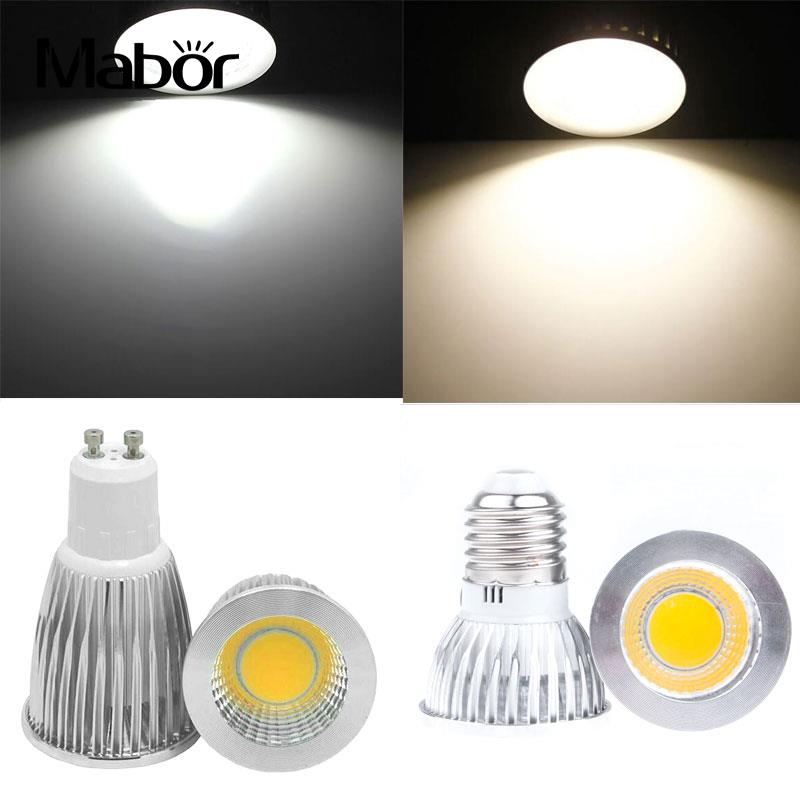 12W Dimmable LED COB Spotlight GU10 E27 Bulb Lamp Light AC100-245V Aluminium