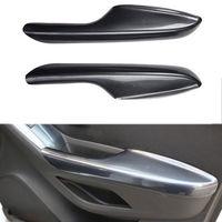 For Chevrolet Trax 2014 2015 2016 2017 2pcs ABS Inner Car Door Armrest Trim Cover Carbon Fiber Style Decorative Accessories
