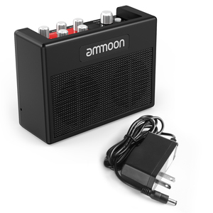 Image 5 - Ammoon POCKAMP gitar amplifikatörü Dahili Çok etkili 80 Davul Ritimleri Desteği Tuner Dokunun Tempo Fonksiyonu ile Güç Adaptörü