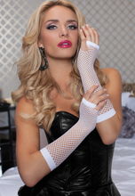 Fingerless Nylon Stretchy Fishnet Gloves