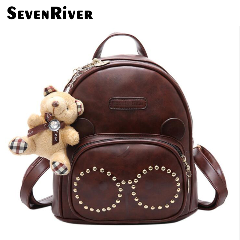 Design PU Leather Backpack Women Backpacks For Teenage Girls School Bags Lady s Small Vintage