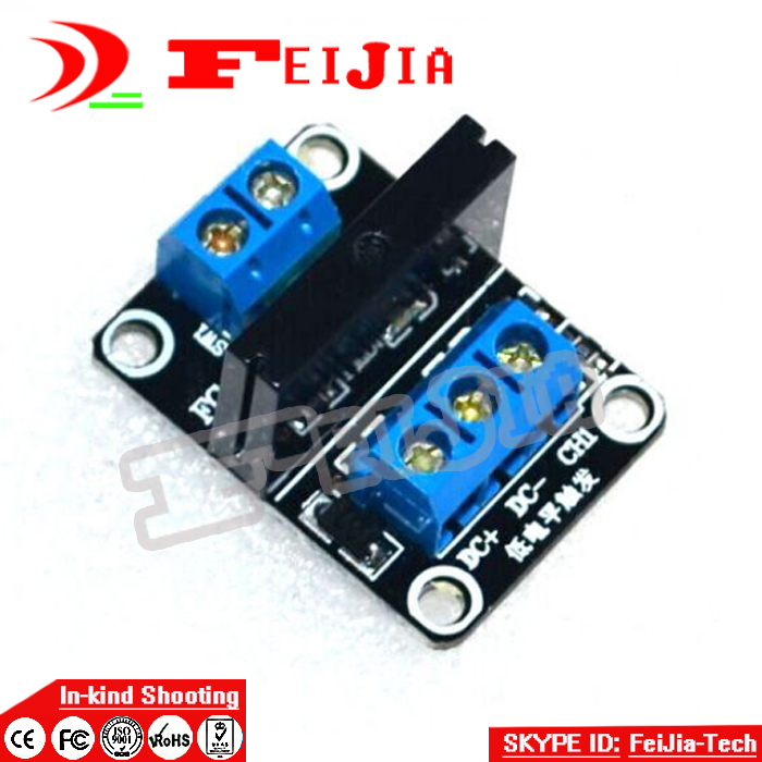 5V 1 Channel SSR G3MB-202P Solid State Relay Module 240V 2A Output with Resistive Fuse For Ard uino