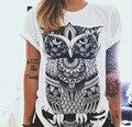 Nova Moda Camisas Das Mulheres T de Manga Curta T-shirt das mulheres Letras Impressas Fêmea Retro Graffiti Flor Tops Tee T Shirts Senhora