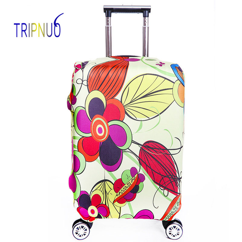 TRIPNUO Elastic Flower Luggage Protective Cover, Suitable18-32 Inch , Trolley Case Suitcase Dust Cover Travel Accessories