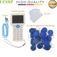 Super Full Featured RFID ID Card Copier ID IC Card Reader Writer 10 Cards 20 Tags