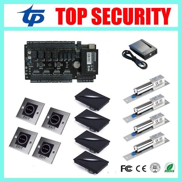 ZK С3 400 биометрический считыватель смарт карт системы контроля доступа четыре двери доступ к панели управления 125 КГЦ RFID считыватели карт