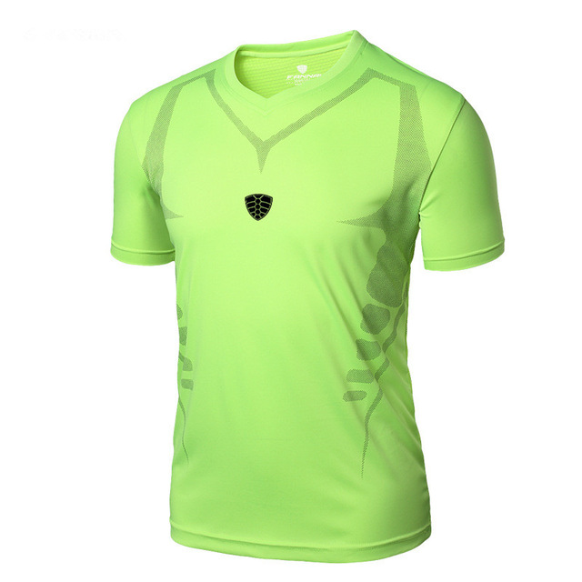 Factory-Direct-Clothing LUCKY SAILING Brand Men Sport T Shirt Quick Dry Breathable Fit running Sport shirts Tops Tees
