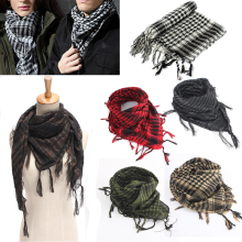 Mayitr 100x100 см наружные походные шарфы военный арабский тактический шарф для пустыни армейский шемаг с кисточкой для мужчин и женщин