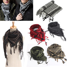 Mayitr 100x100cm Outdoor Hiking Scarves Military Arab Tactical Desert Scarf Army Shemagh With Tassel For Men Women(China)