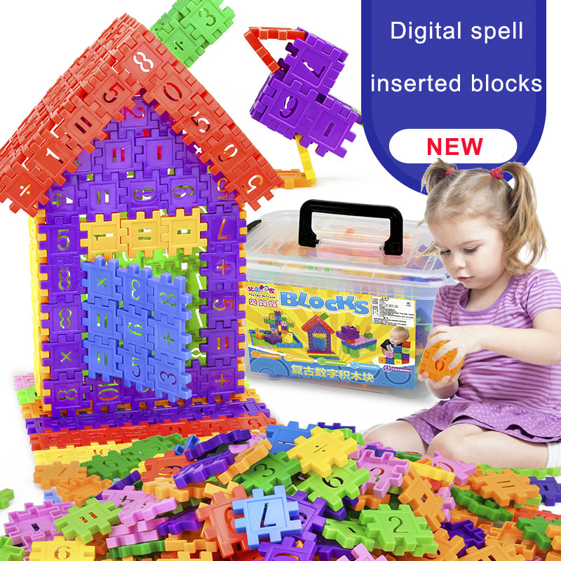 110pcs Assembly DIY Creative Digital Bricks Sets Square