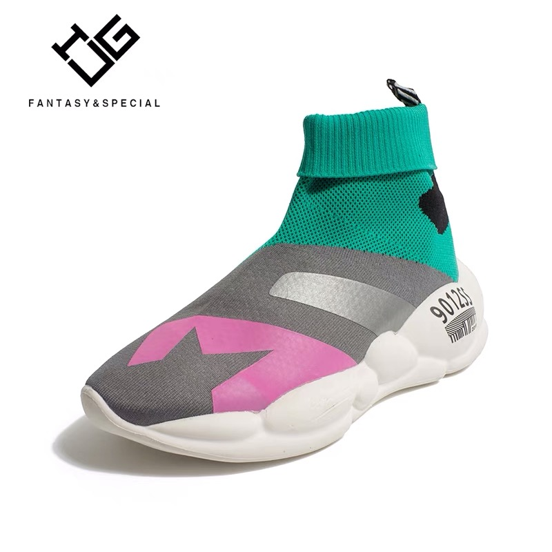 Baskets Respirant Homme Sport Mujer De Chaussettes Zapatillas Deportiva Top Haute Ugi Multi Lumière Femmes D'été Légères Stretch Chaussures uOZPkXi