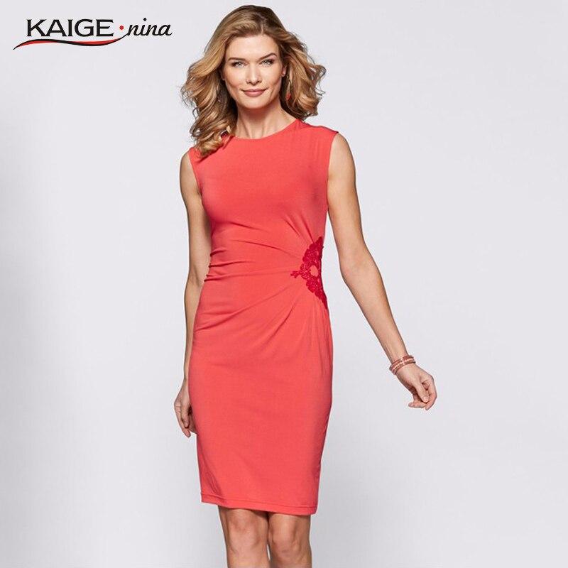 Kaige.Nina Ocio de la moda de las mujeres de color puro sin mangas - Ropa de mujer