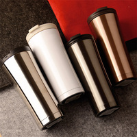 500ミリリットルステンレス鋼タンブラー二重壁真空断熱トラベルマグコーヒーカップリークプルーフ飲料水ボトル