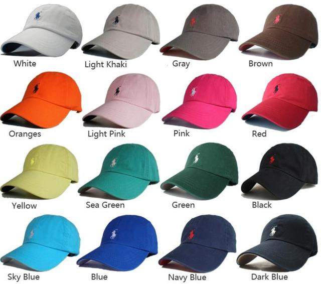 Hot Sale Outdoor dome Sun cap Man Woman Unisex cotton hat Pony Polo Golf  Tennis baseball Cap leather strap Free Shipping PO10 8b90e78c5cb