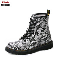 Winter Fall Woman Boots British Martin Shoes Boot Women Flats High Hop Boot Snowboots Lace Up