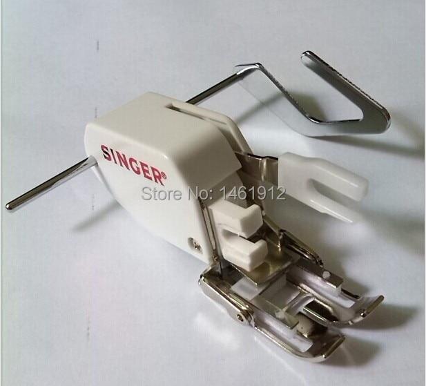 Hushållssympmaskiner Delar Pressarfot 10449WSR / 7mm Fotfot Lågskalv med Quilting Guide tillverkad av sångare