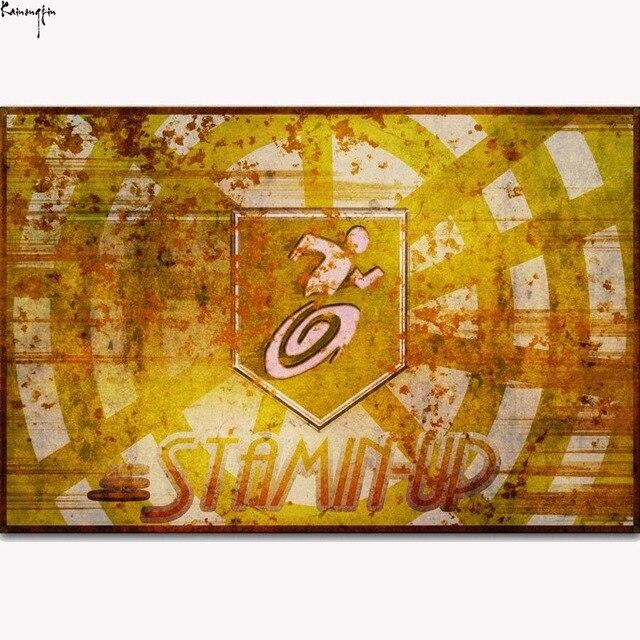 ZP465 New Zombies Stamin UP Perk Black OPS Art Poster Silk Light ...