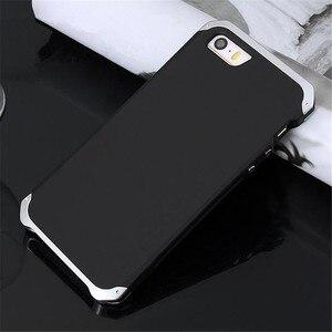 Image 5 - Armatura di lusso di Alluminio del Metallo + PC Del Telefono Proteggere Funda Coque Copertura Per il iPhone 11PRO MAX X XS XR 8 6 6S 7 Più di 5S SE Caso