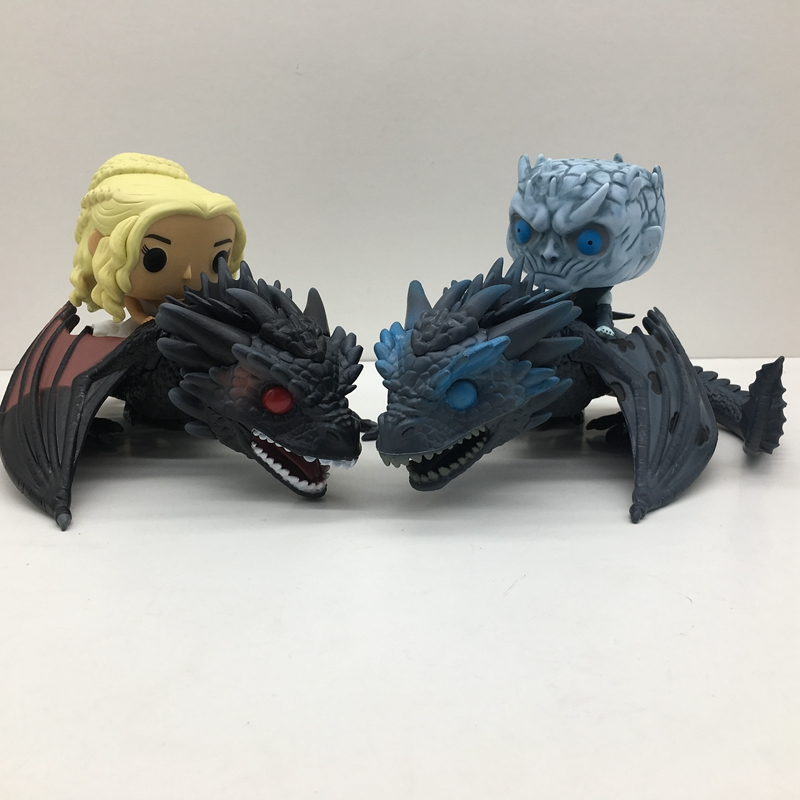 2pcs/set Game of Thrones Daenerys Targaryen Night King Doll With Dragon Action Figures Toy Christmas Gift NO BOX цена