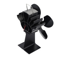 Hot 4 Blade Heat Powered Stove Fan For Wood / Log Burner/Fireplace   Eco